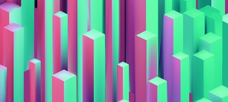 Abstract Isometric Boxes 3D background