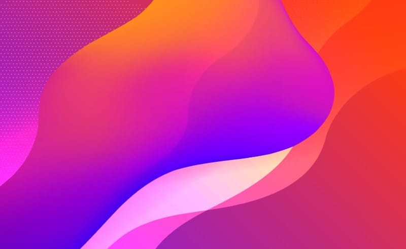 Abstract vibrant fluid colours background