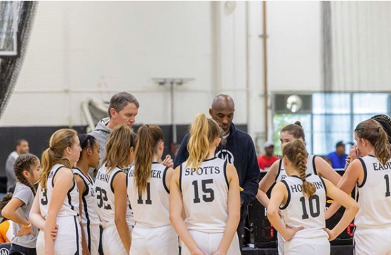 Kobe Bryant was seen coaching his daughter's basketball team on Saturday