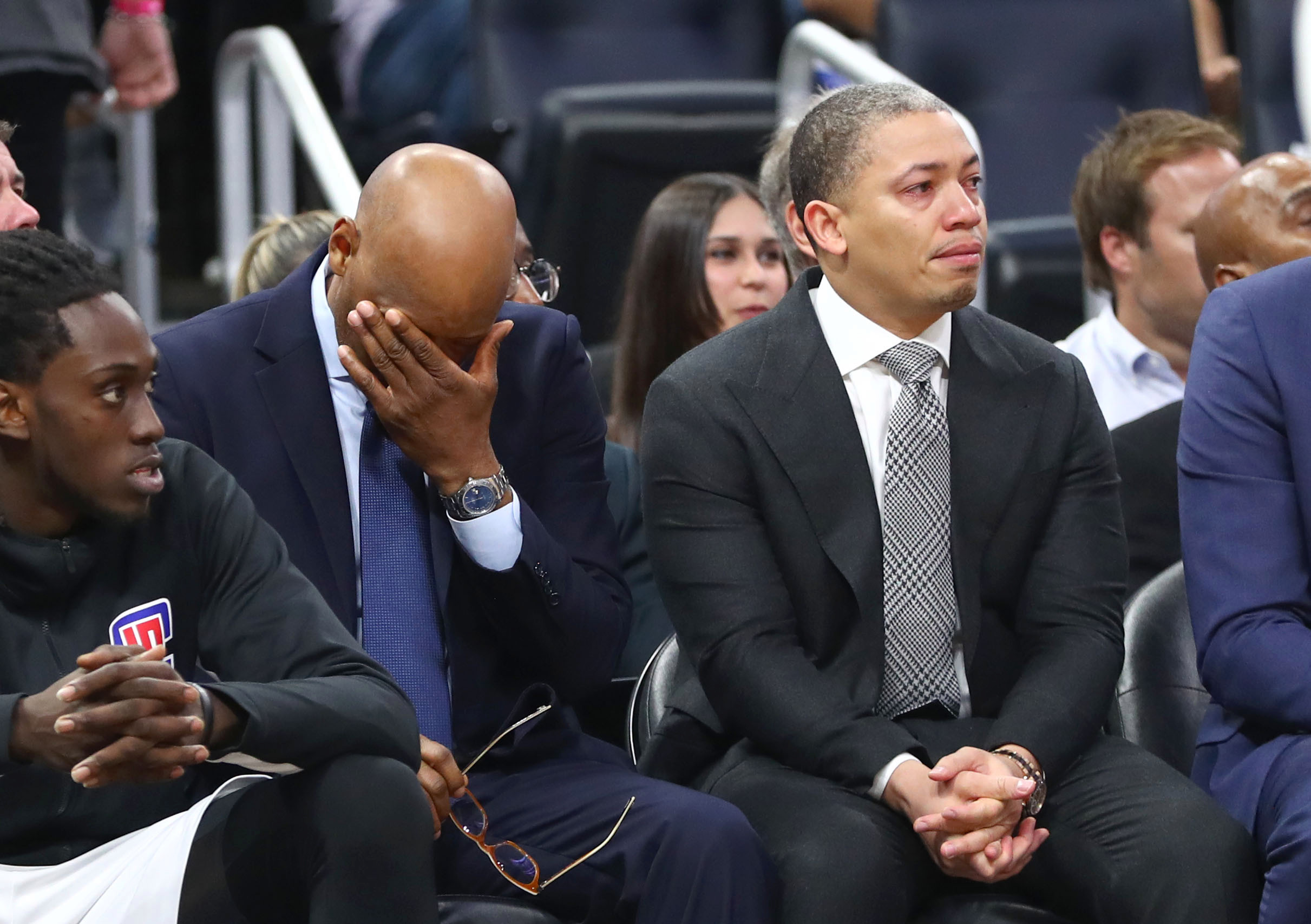 LA Clippers coach and Kobe's former teammate Tyronn Lue was visibly emotional over the news of his passing