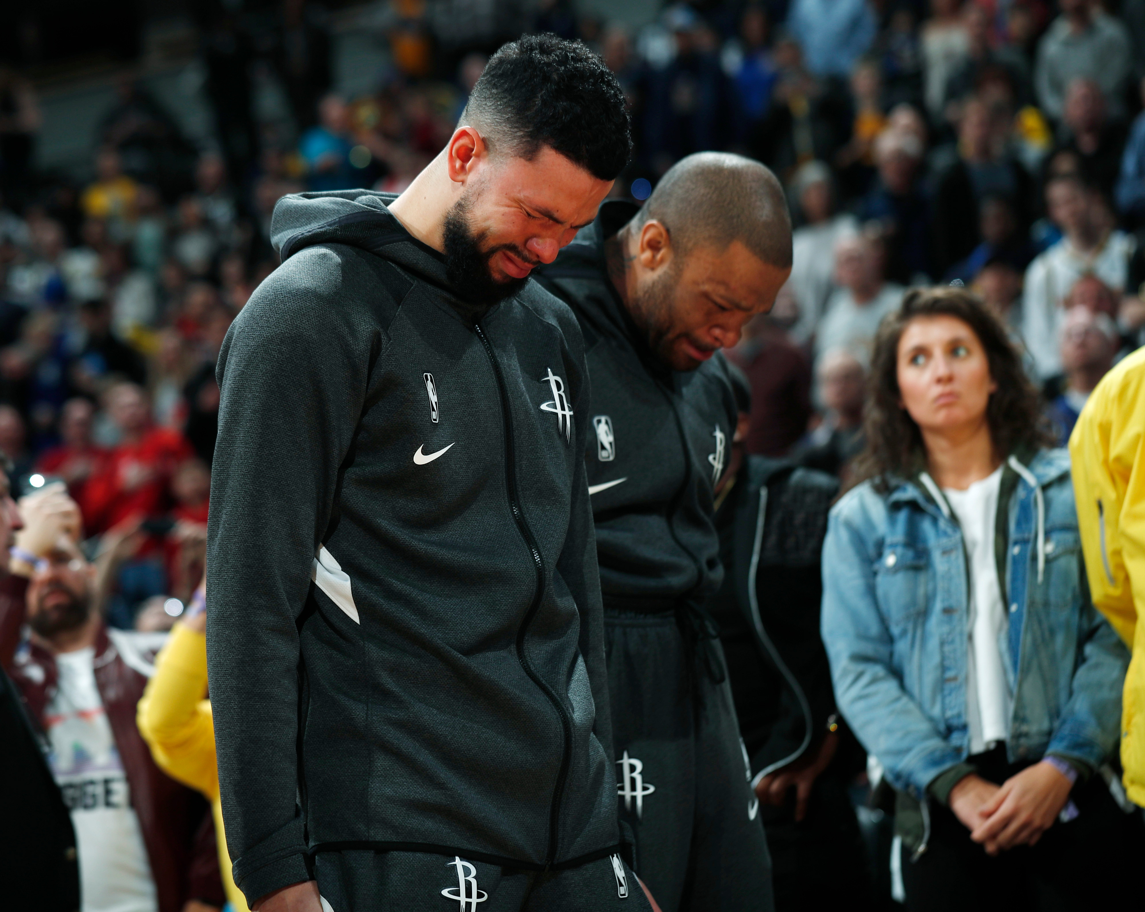 Austin Rivers was one of the players who held back tears as they stepped on the hardwood on Sunday