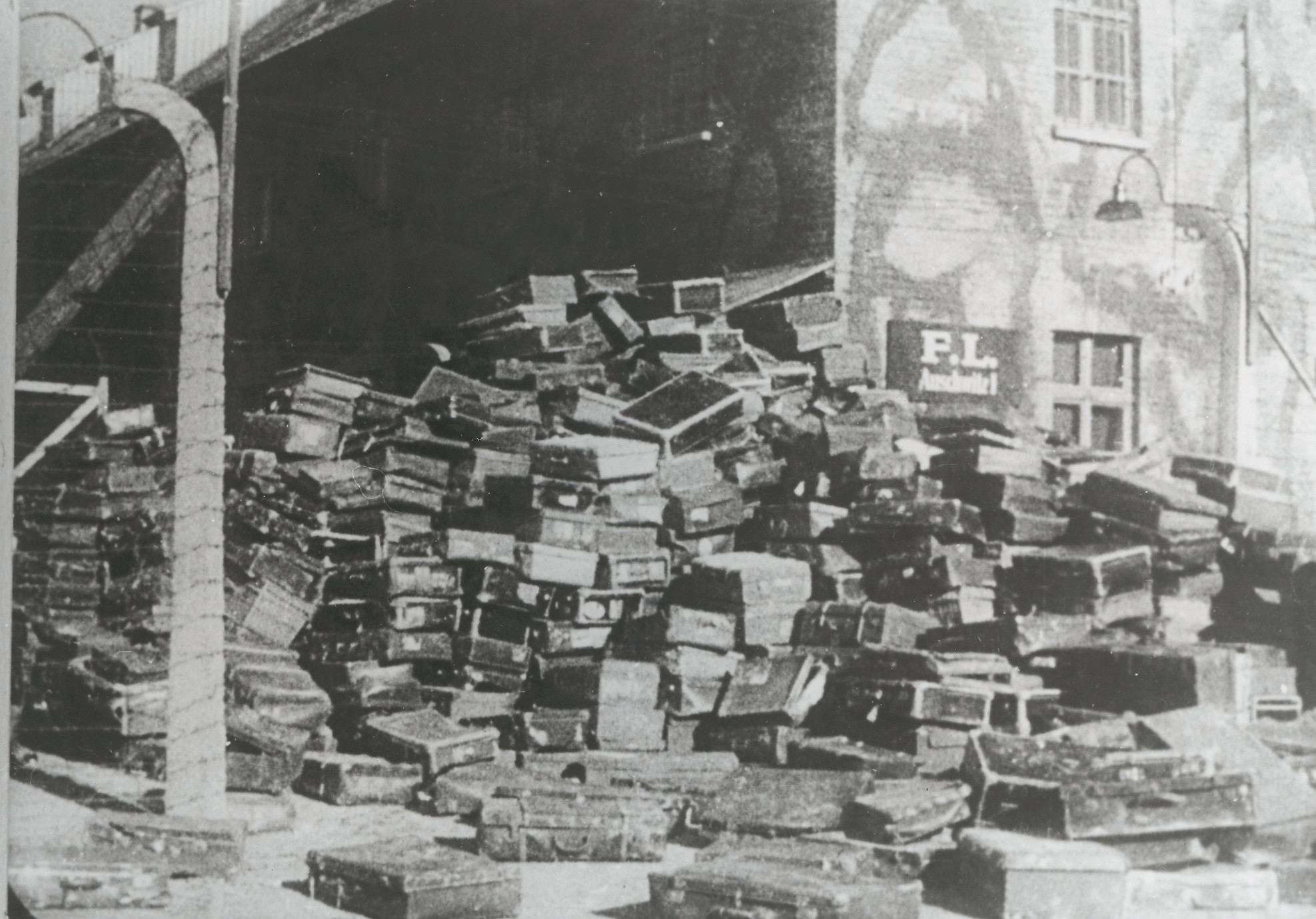 Suitcases of Holocaust victims murdered by the Nazis