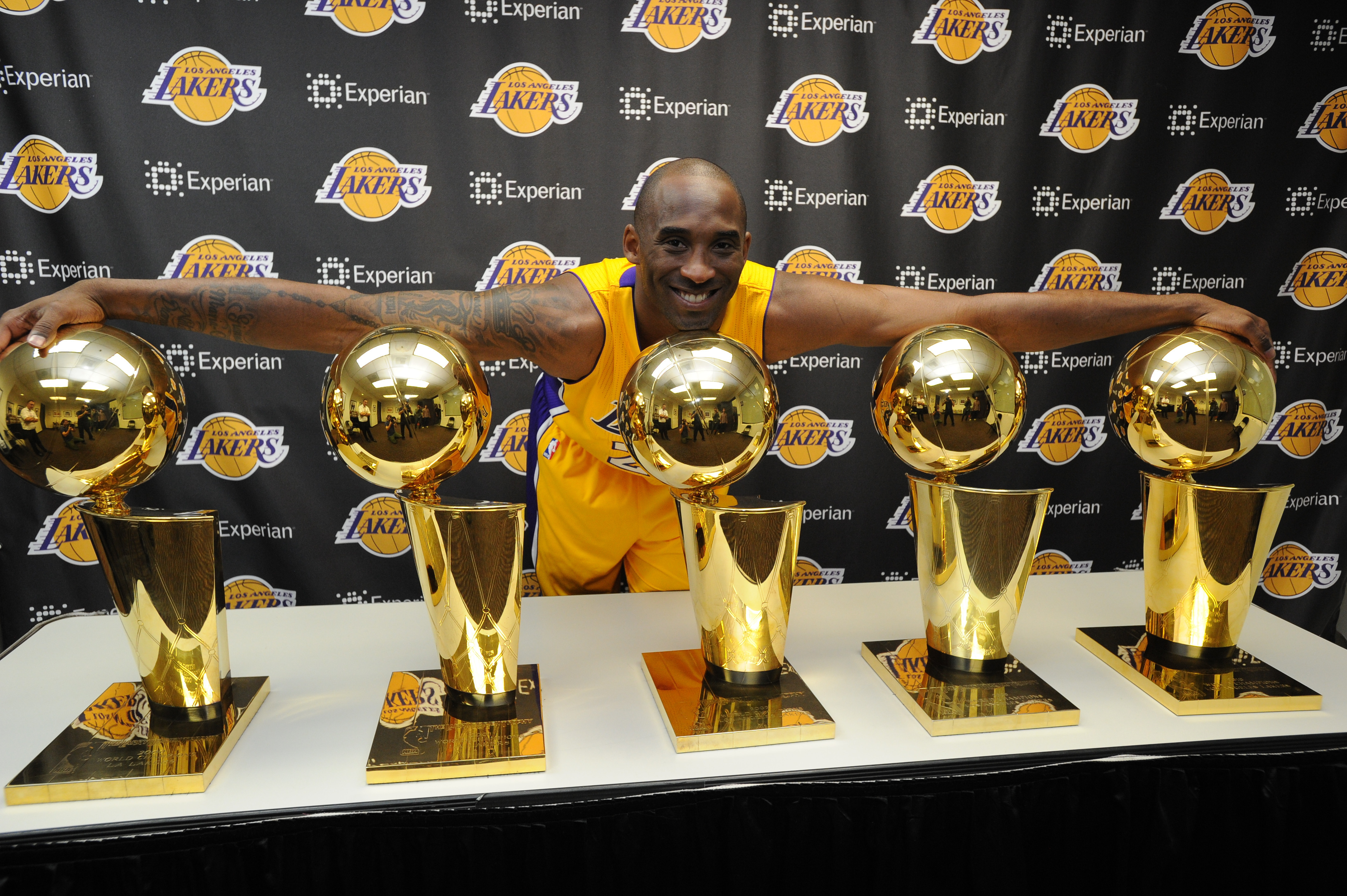 Kobe won five NBA championships over the course of his stories career