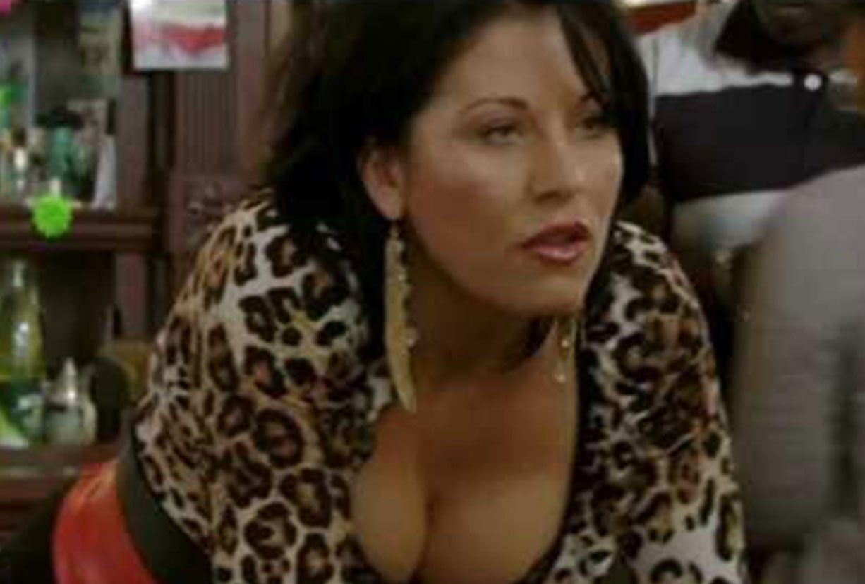 Her behaviour has closely mirrored that of her soap character, Kat Slater, pictured