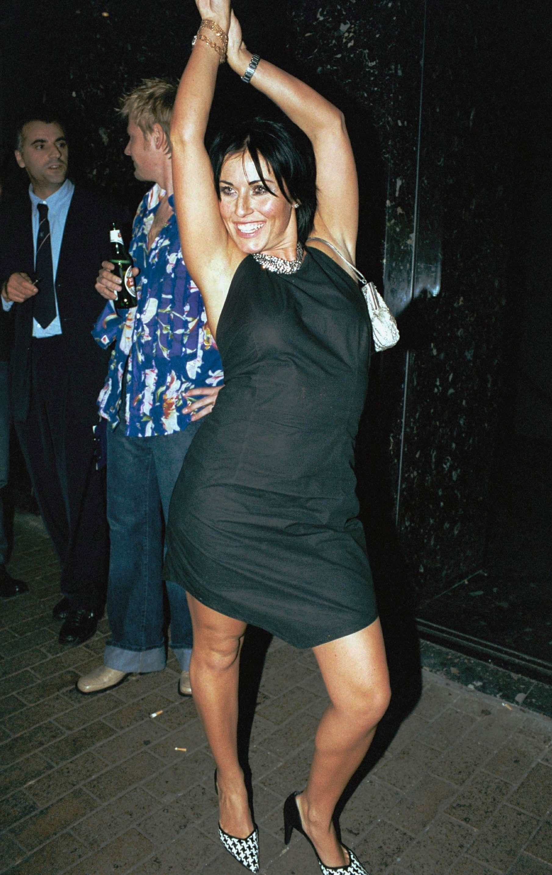 Jessie is seen partying in the capital in 2001, two years before she was caught drink-driving
