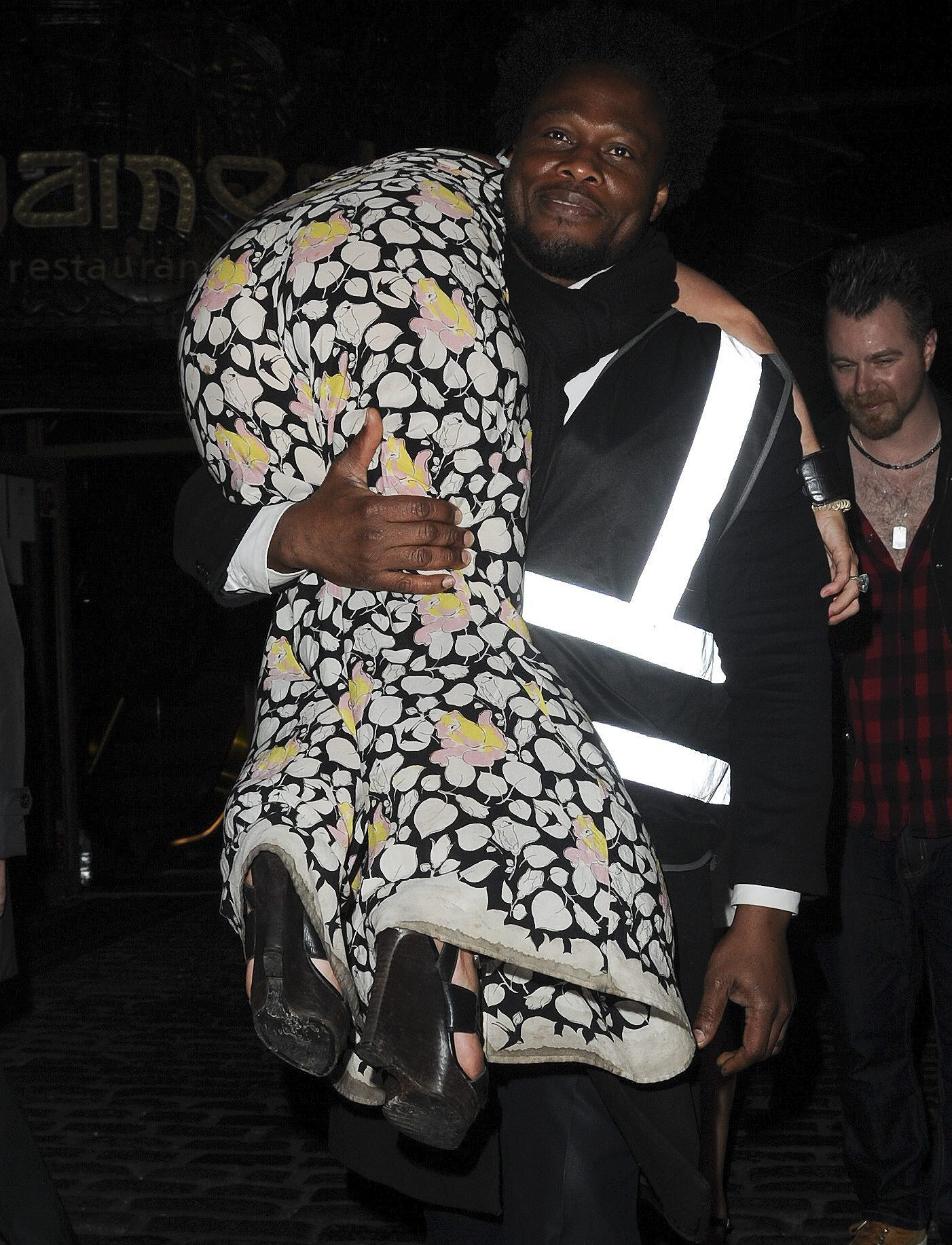 Jessie is carried out of a London club over a bouncer's shoulder after a drunken night out