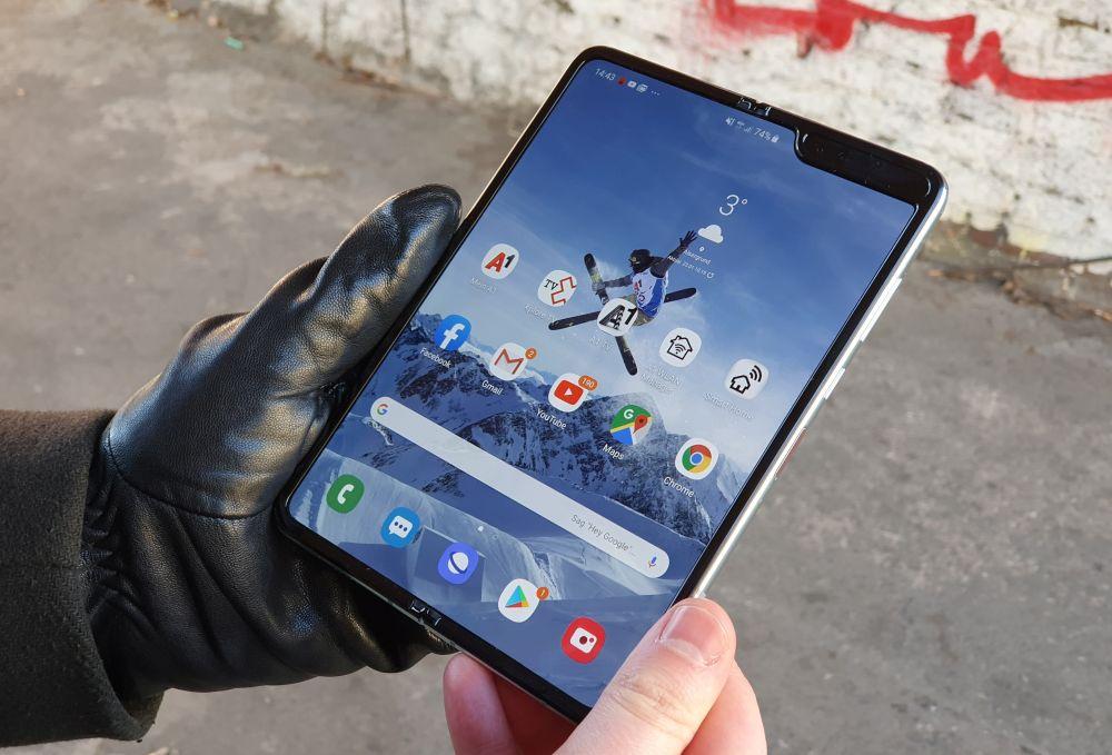 Samsung Galaxy Fold 5G display flap open