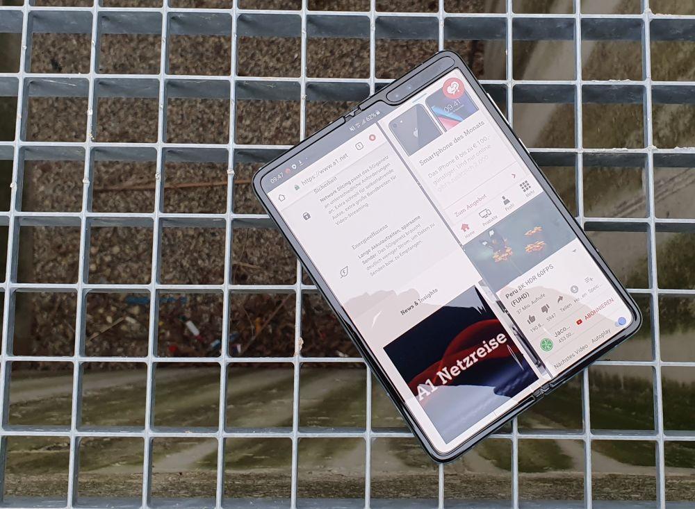 Samsung Galaxy Fold 5G test multitasking