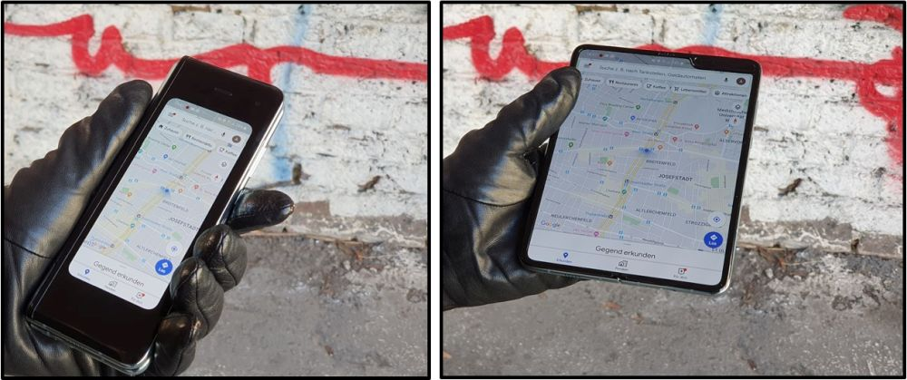 Samsung Galaxy Fold 5G test seamless working