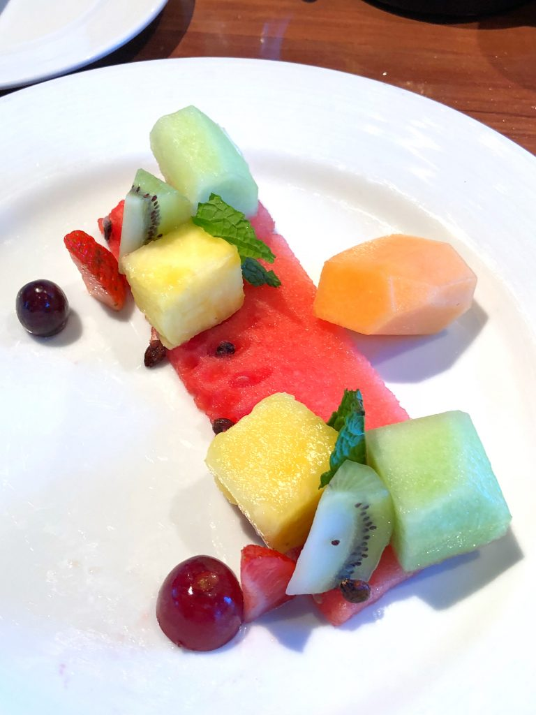 Are Carnival Cruises Vegan Friendly? - Fruit Plate from Sea Day Brunch on Carnival Horizon