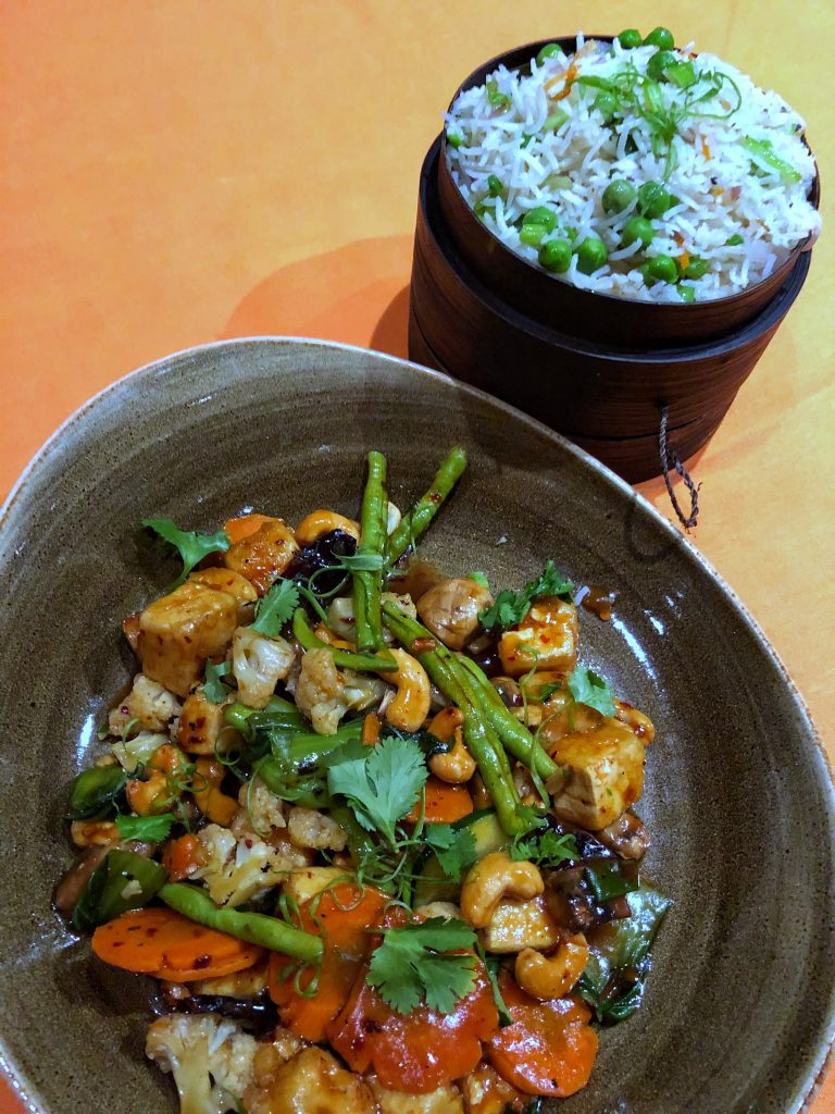 Are Carnival Cruises Vegan Friendly? - Kung Pao Tofu from JiJi Asian Kitchen on Carnival Horizon