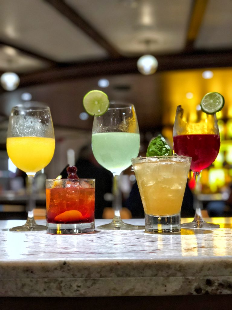 Are Carnival Cruises Vegan Friendly? - Cocktails from the Alchemy Bar on Carnival Horizon