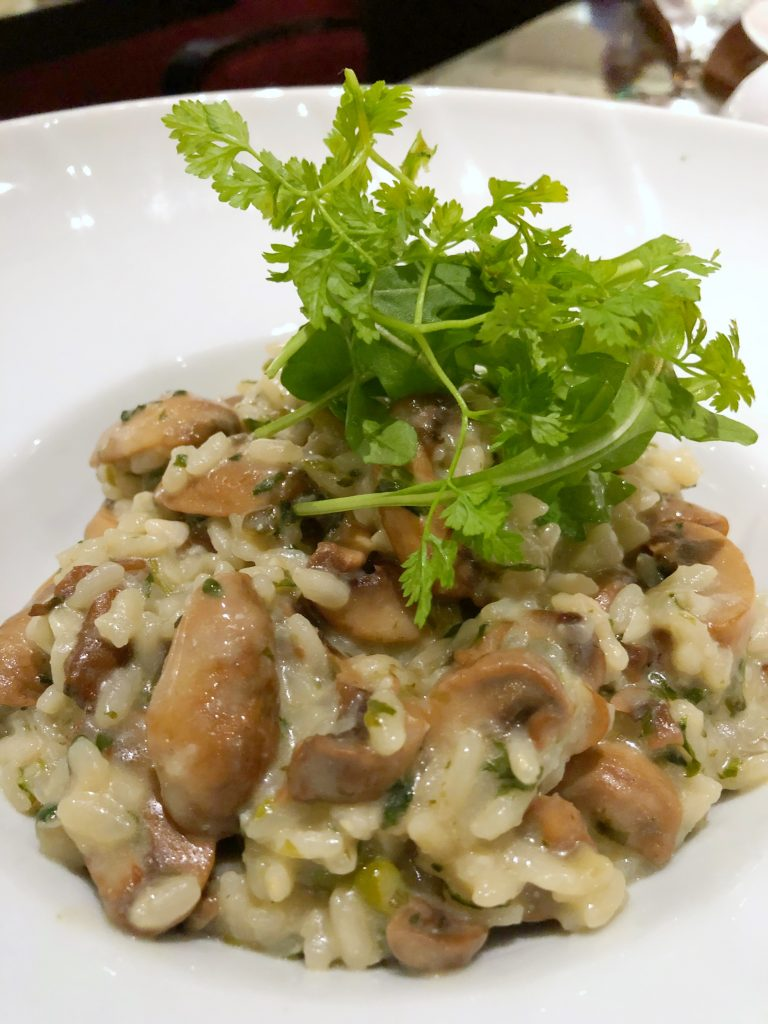 Are Carnival Cruises Vegan Friendly? - Mushroom Risotto from Fahrenheit 555 Steakhouse on Carnival Horizon