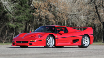 Red 1995 Ferrari F50 sold for $3,222,500 at Gooding Pebble Beach 2020.