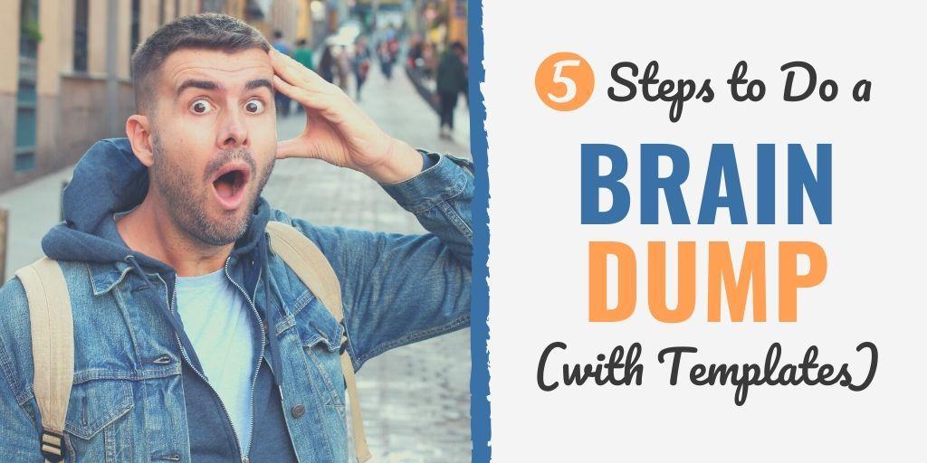 brain dump   brain dump example   brain dump template