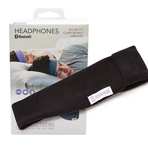 AcousticSheep SleepPhones Classic Sleep Headphones (Black, Medium - One Size Fits Most)