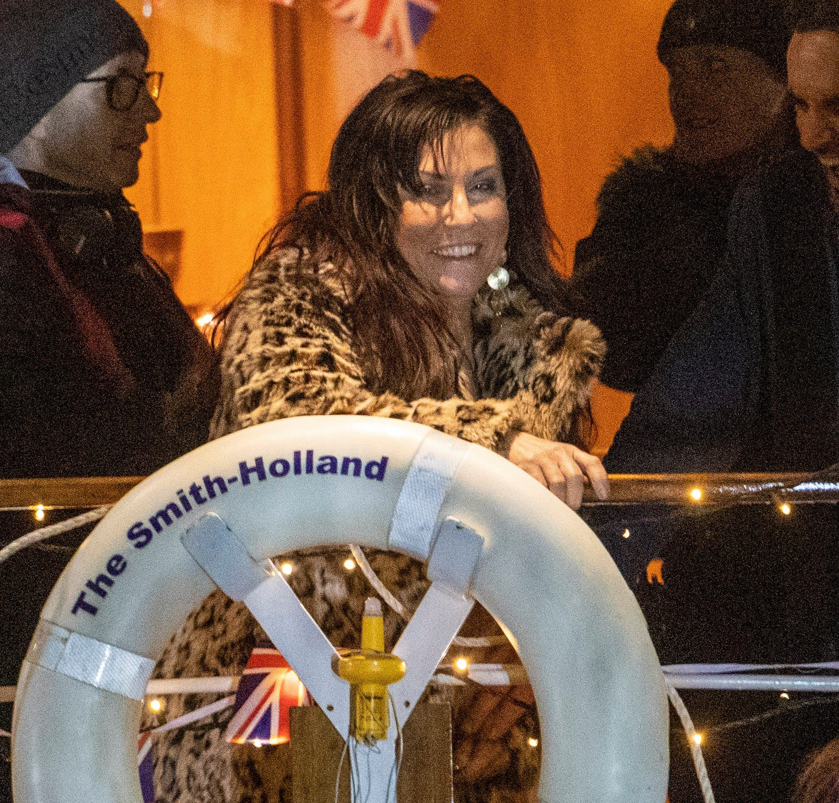Actress Jessie was pictured holding on to a life ring and looking merry while filming EastEnders's 35th anniversary special days before her shock suspension