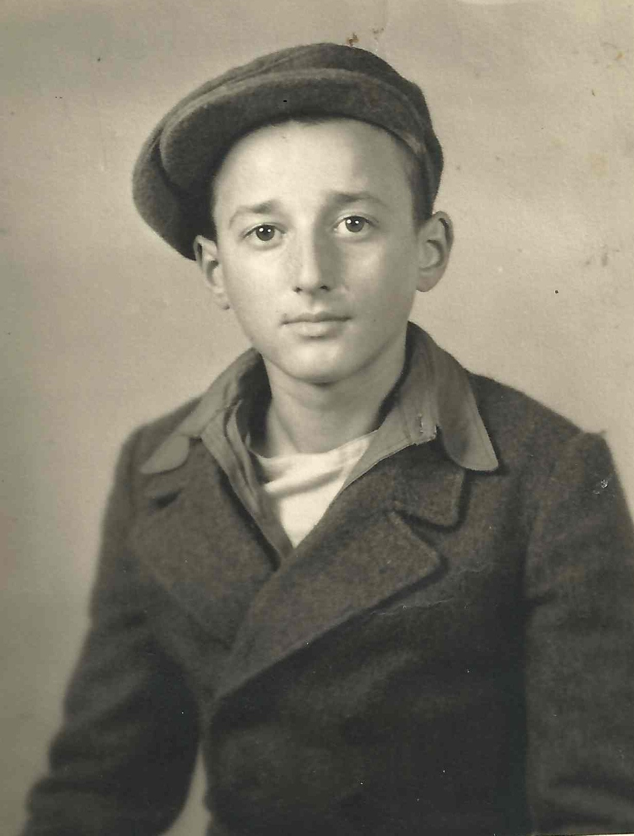 Ivor Perl aged 14, two years after being sent to the camp