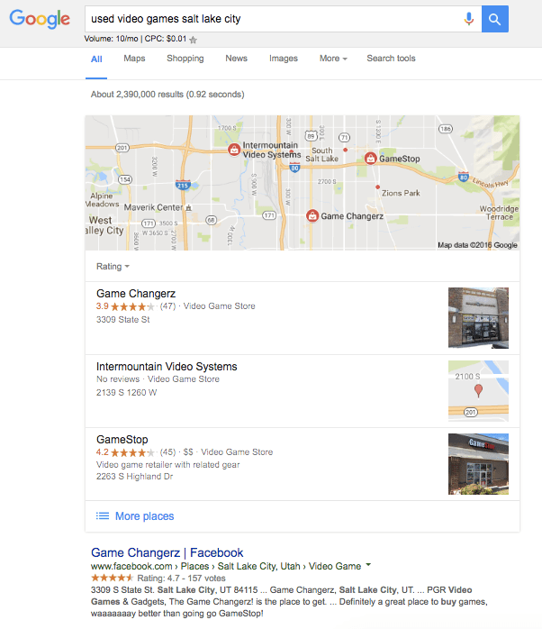local search query example