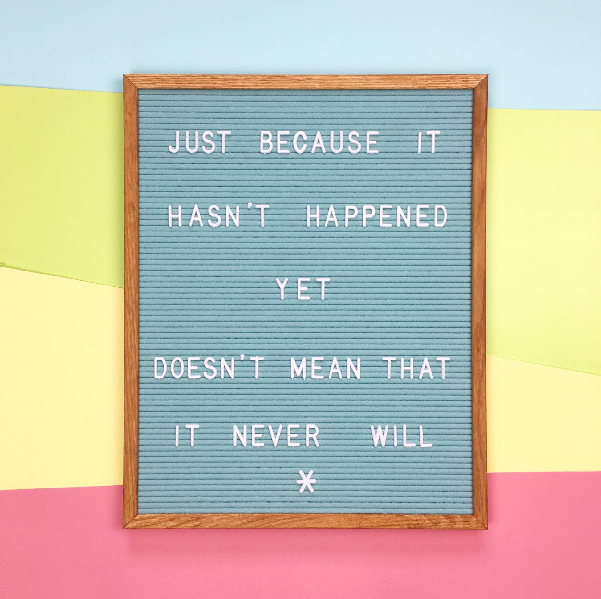 Letterboard quote | Hello! Hooray!