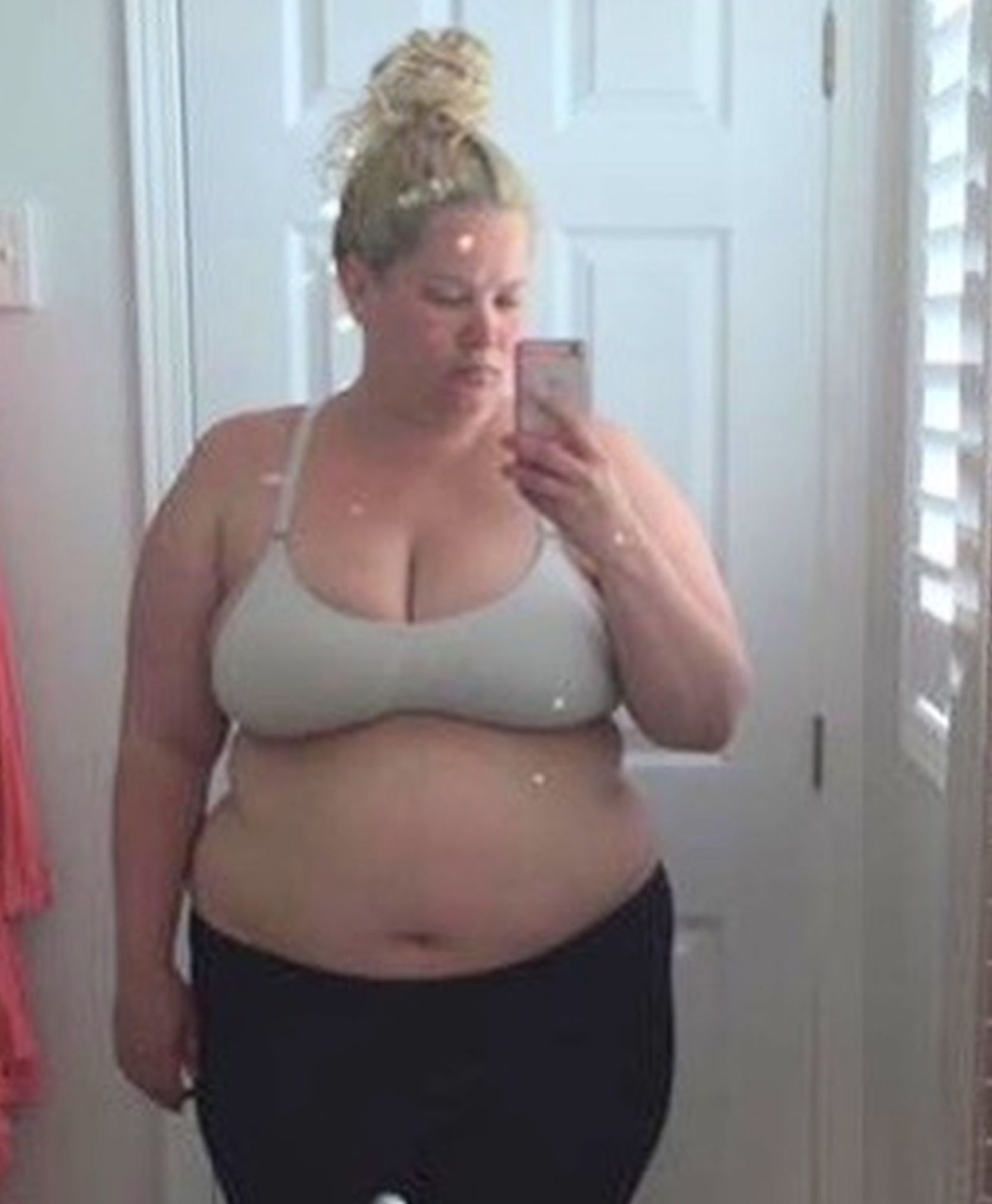 At her biggest, Kelsey was a size 28 and tipped the scales at 20 stone