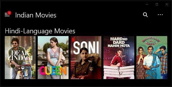 Netflix - Indian Movies