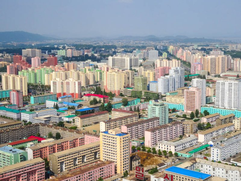 Pyongyang From The Top Of Juche Tower