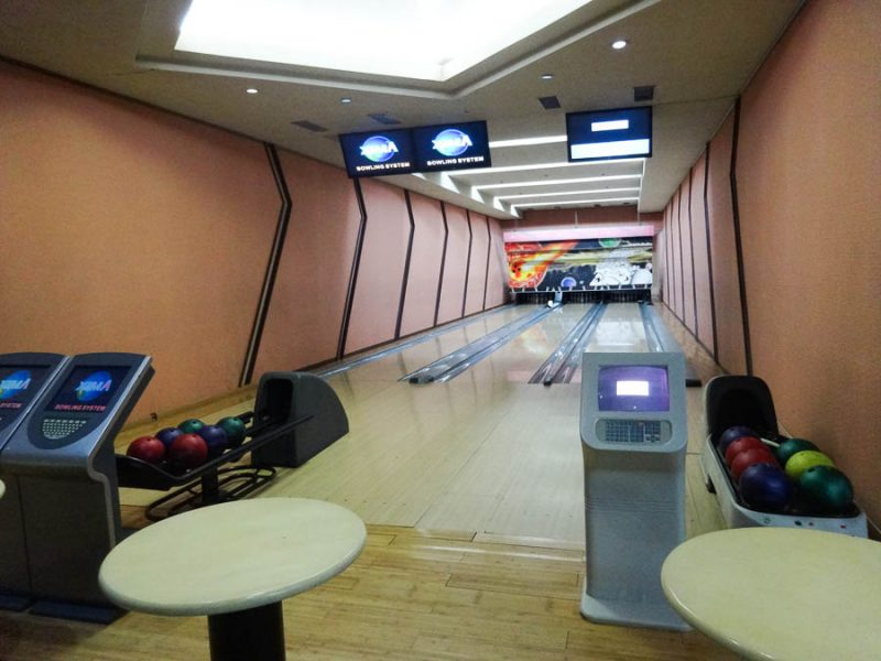 Small Bowling Alley In My Hotel