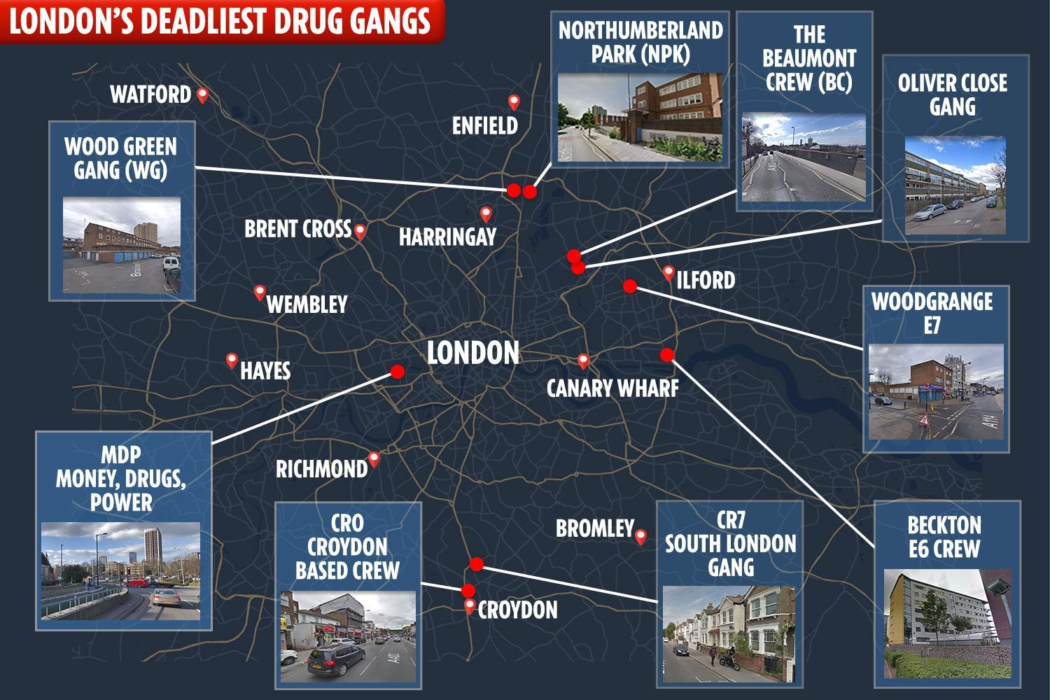 There are at least four gangs operating in the Stoke Newington area
