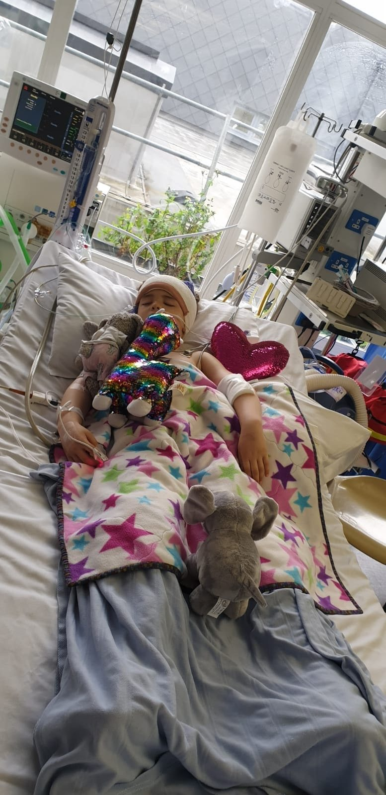 Annabelle was rushed to hospital where scans revealed a tennis-ball sized tumour on her brain