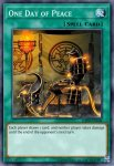 Yugioh banned list card One Day of Peace