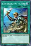 Yugioh banned list card Reinforcement of the Army