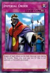 Yugioh banned list card Imperial Order