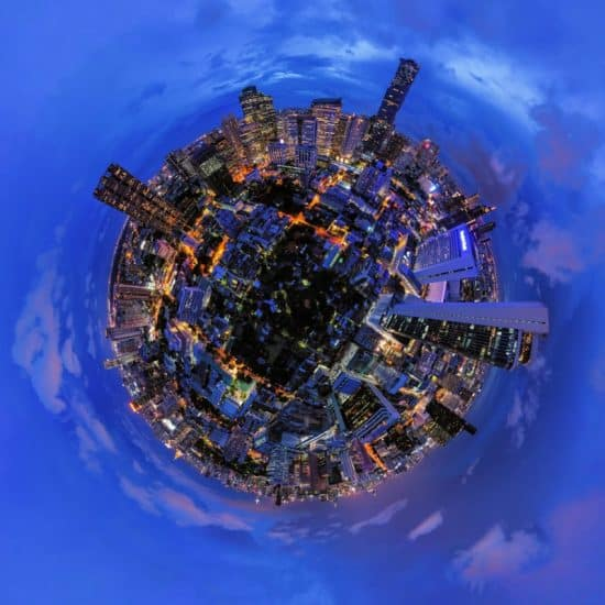 360 photo of a city