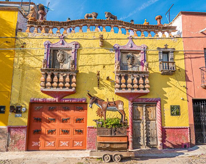 Colorful Street Art in San Miguel de Allende