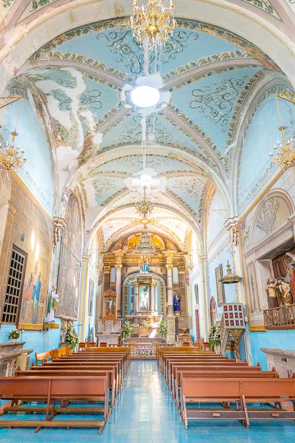 Inside The Holy School of Christ in San Miguel de Allende