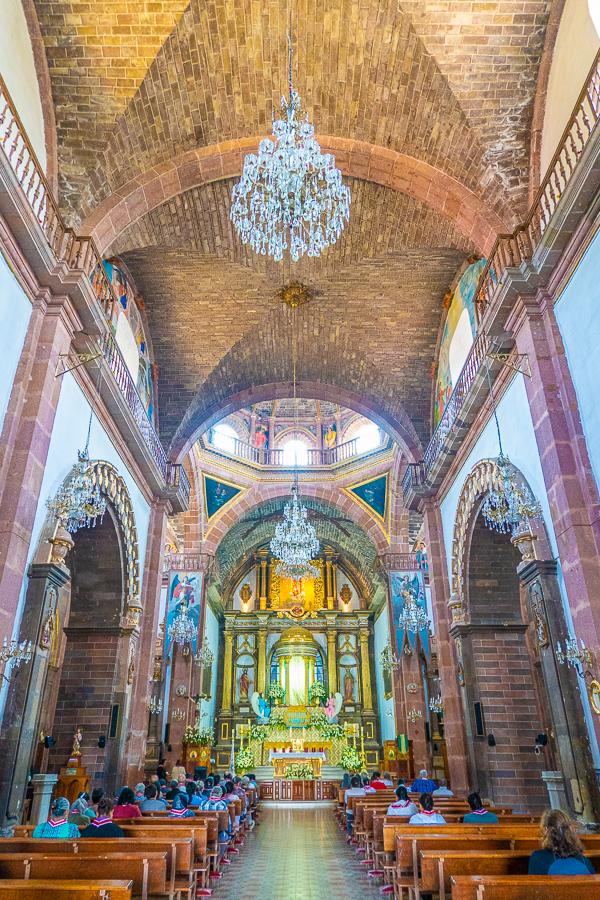 Inside the Parroquia de San Miguel Arcángel Church
