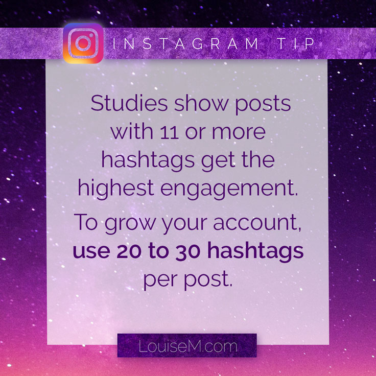 Days of the Week hashtags, TipTuesday example: Use more hashtags on Instagram to grow your account.