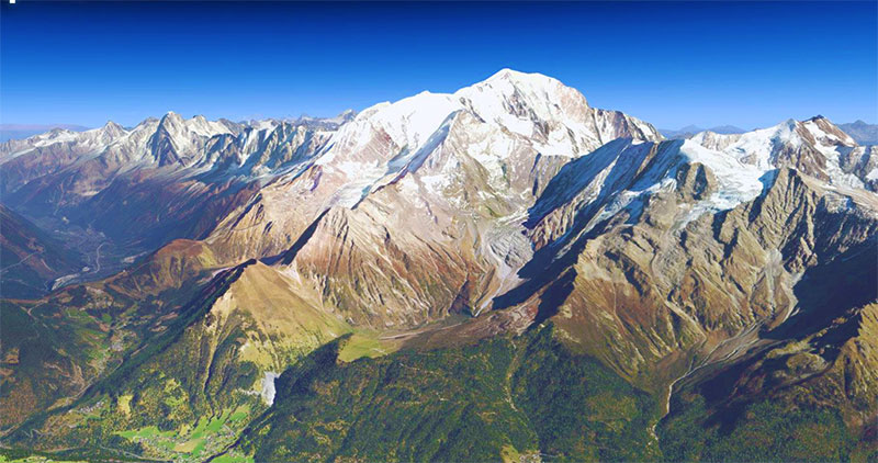 The Alps in X-Plane 11.