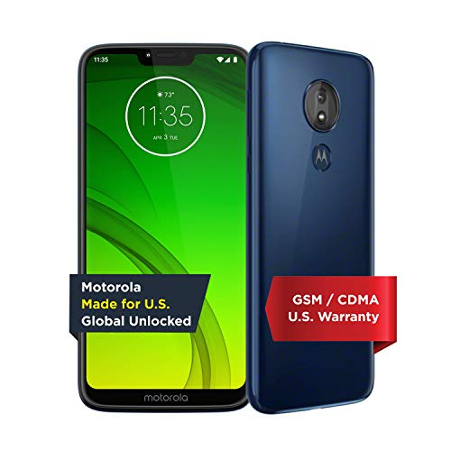 Moto G7 Power - Unlocked - 32 GB - Marine Blue (US Warranty) - Verizon, AT&T, T-Mobile, Sprint, Boost, Cricket, Metro