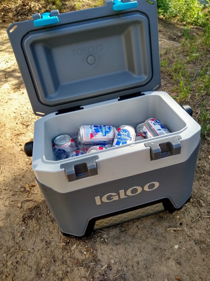 The Igloo BMW filled with equally affordable refreshment.