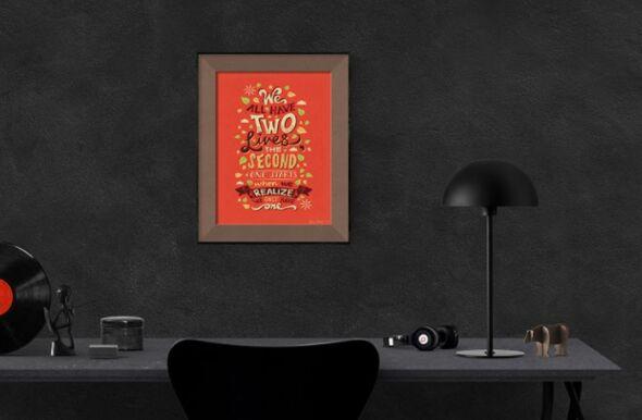 Free Photo Frame Poster Mockup PSD