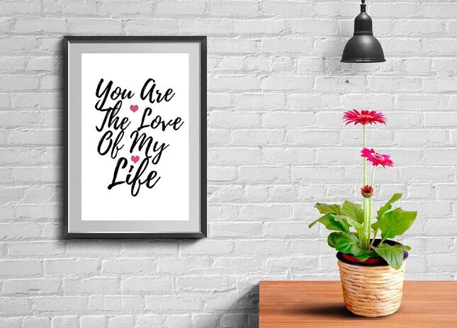 Wall Frame And Poster Mockup PSD