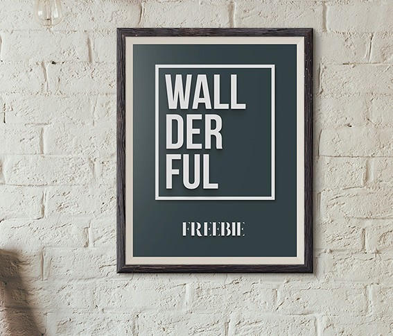 Wallderful Free Frame Mockups