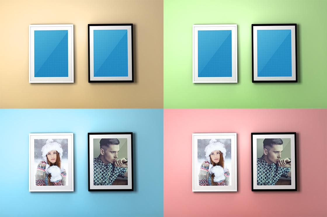 FREE Colourful Frame PSD Mockups