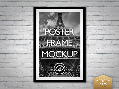 Poster Frame Mockup PSD