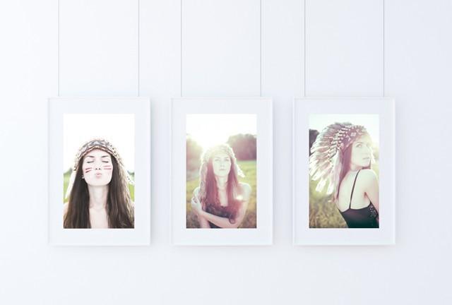 Triple Poster Frame Mockup