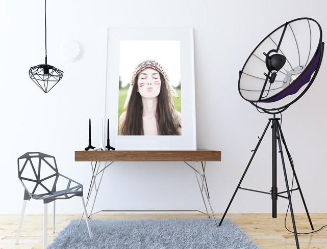 Poster Single Frame Mock-Up