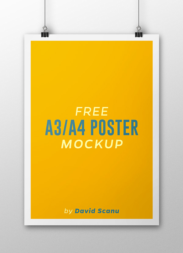 Free A3 A4 Poster Mock Up