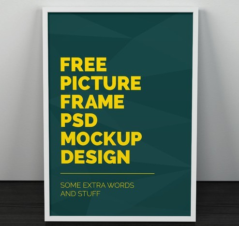 Artwork Frame PSD Mockup